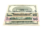Miscellaneous denominations of dollars — Stock Photo