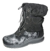 Winter warm fur boots — Stock Photo