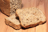 A delicious and healthy whole grain bread — Stock Photo