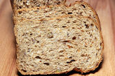 A delicious and healthy whole grain bread closeup — Stock Photo
