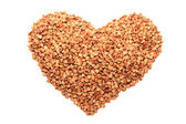 Heart of buckwheat — Foto de Stock
