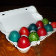 Dyed egg at day of the easter — Stockfoto