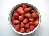 Red strawberries in guard;keep — Stock Photo