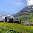Mountain village in South Tyrol — Stock Photo