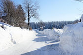 Winterliche landschaft im erzgebirge — Stockfoto