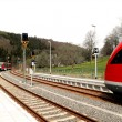 Stock Photo: Oncoming traffic in the Zschopautal