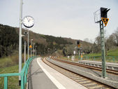 A small train station in Erzgebirge, Germany — Stock Photo