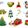 Christmas vector icons — Stok Vektör