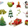 Stock Vector: Christmas vector icons