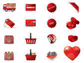 Valentine s day icons — Stock Vector