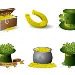 Saint Patrick's Day symbols vector set — Stock Vector #9035454