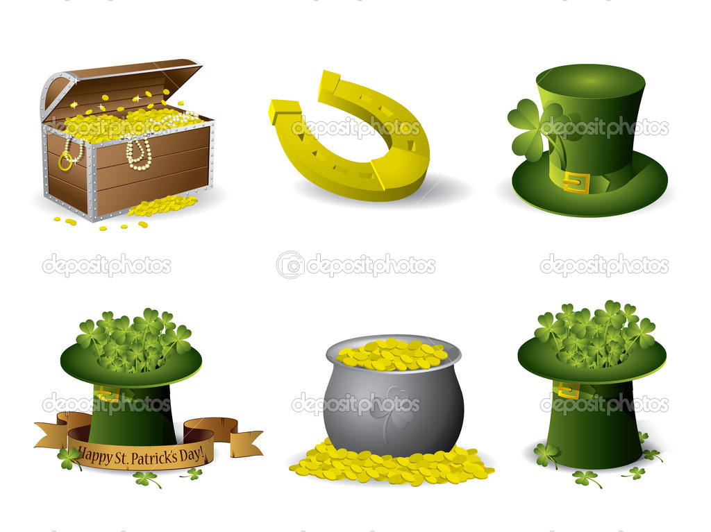 Saint Patrick's Day symbols vector set — Stock Vector #9035454