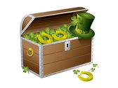 St Patrick day treasure chest — Stock Vector