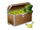 St Patrick day treasure chest — Stock Vector