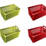 Plastic shopping basket — Stock Vector