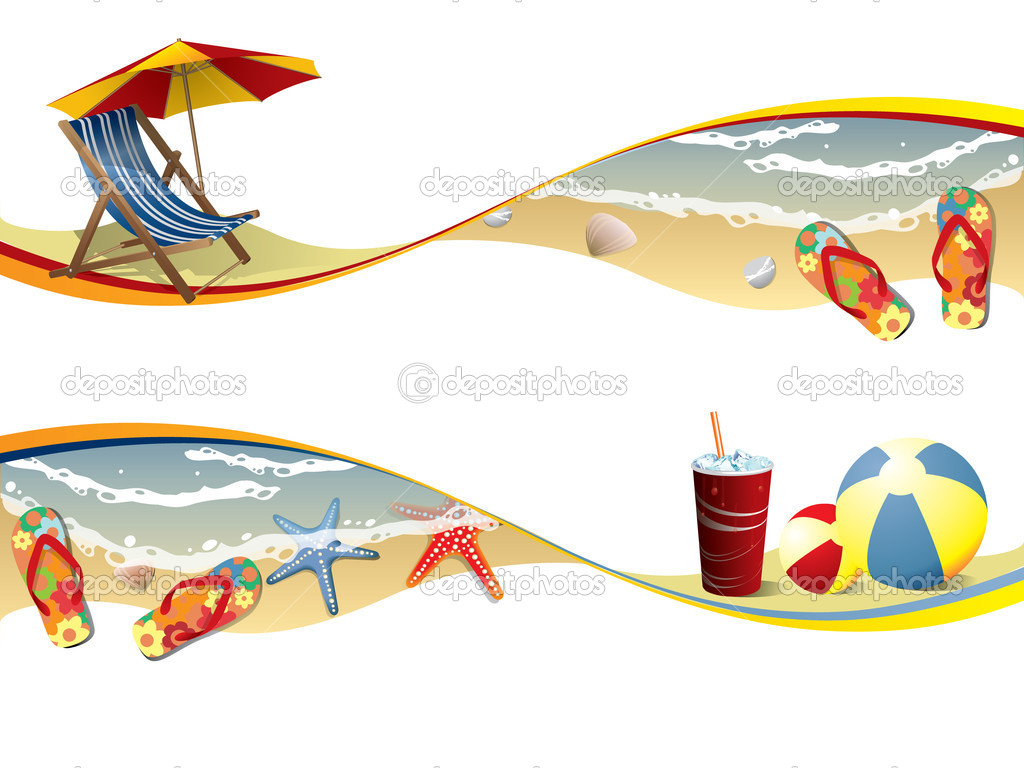 Summer beach banners  Stock Vector #9692473