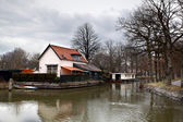 Small Dutch town — Stock Photo