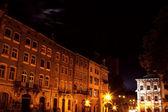 Lviv şehir gece — Stok fotoğraf