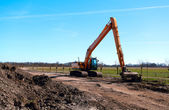 Excavator outdoors — Stockfoto