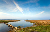 Landscape with wild lake at long exposure — Stock Photo