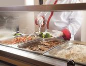 Estação de serviço de almoço completo — Foto Stock
