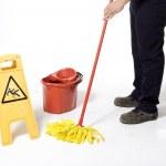 Mopping floor — Stock Photo #9457044