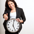 A Business Professional Holding a Clock — Stock Photo #10067349