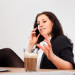 Foto Stock: Executive Busy Talking with Someone on the Phone