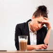 Stressed Businesswoman Under Pressure — Stock Photo