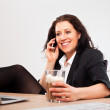 Smiling Executive Talking on the Phone — Stock Photo