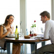 Couple Enjoying a Romantic Dinner for Two — Stock Photo