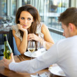 Woman In Love On Romantic Date — Stock Photo