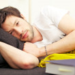 Sleepy Tired Young Man — Stock Photo