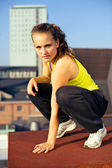 Parkour On Urban Building Rooftop — Stock Photo