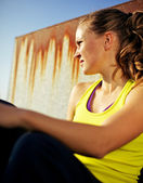 Portrait of Determined Girl in Fitness Clothing — Stock Photo