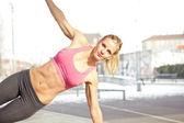 çekirdek egzersiz — Stok fotoğraf