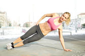 Core workout — Foto Stock