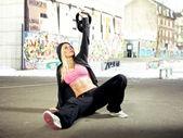 Concentrando-se no levantamento de peso — Foto Stock