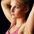 Headshot of Beautiful Fitness Model — Stock Photo