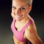 Happy Fitness Woman — Stock Photo #9579391