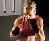 Female Fighter — Stock Photo