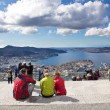 View from fløyen over Bergen — Stock Photo