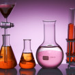 Pink laboratory — Stock Photo
