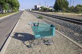 Green cart — Stock Photo