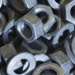 Nuts and washers — Stock Photo