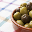 Green olives — Stock fotografie