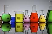 Laboratory flasks — Stock Photo
