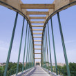 Concrete suspension bridge — Stock Photo