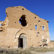 Stock Photo: Village demolished Belchite