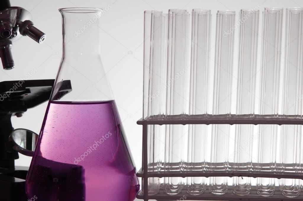 Foreground of a biotechnology lab with a white background — Stock Photo #9576044